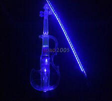 Full Transparent Crystal Acrylic Electric Violin with best LED light