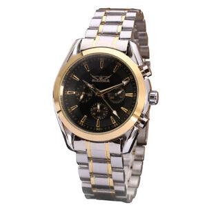 JARAGAR 055 Business Men Mechanical Watch Three Sub-Dial Date Week Display Q4A6