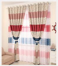 Ocean Fish Door Window Curtain Drape Panel Tulle Sheer Scarf Valance Voile