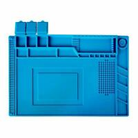 Magnetic Heat Insulation Silicone Pad Desk Work Soldering Iron Phone Repair Mat