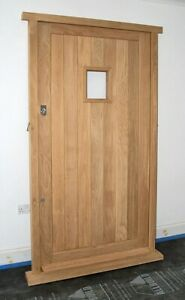 Solid Oak Front Door Cottage Style High Quality!!! Made to measure!!! Bespoke!!!