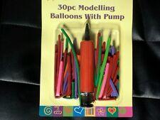 30 x palloncini modellazione colorati kit set con Pompa Palloncino Festa Bambini Craft