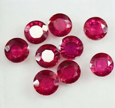 18 Ct AAA+ Quality 9 Pieces Certified Natural Mozambique Ruby Gemstone Lot