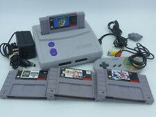 Super Nintendo SNES Jr Console Full Setup + 4 Games - Region Mod - NTSC US