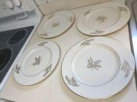 """Set of 4 ~ Lenox Harvest Wheat R441 Dinner Plates ~ 10 5/8"""" Nice"""