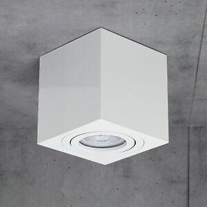 Aufbauleuchte Spots MILANO mit PHILIPS GU10 230V LED 5W Dimmbar CUBE