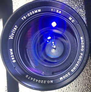 Vivitar 75-205mm f3.8 MC Macro Zoom Lens for Minolta; VGC; Free Shipping