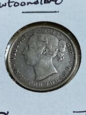1888 Canada Newfoundland 20 Cents Silver Coin!! Very Low Mintage!!