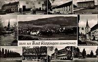Bad Krozingen Mehrbild-AK ~1955 Krankenhaus Kurpark Schloß Thermalbad Kirche uvm