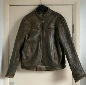 Hidepark Heavy Leather Brown Jacket XL - Top Grade Leather - Good Used Condition