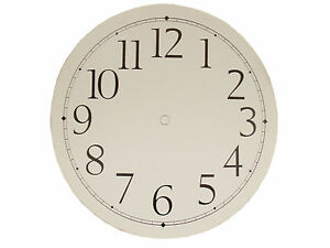 """New 9"""" Adhesive White Paper Clock Dial with Arabic Numbers (C-600)"""