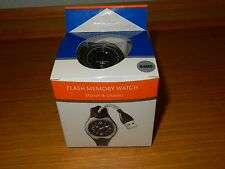 64MB BLACK FLASH MEMORY WATCH STORE SAVE FILES WITH USB CONNECTION NEW IN BOX
