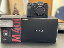 Fujifilm X-T2 24.0MP Digital SLR Camera - Black (Body Only) With Mecablitz M400
