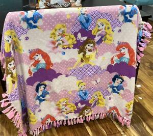 Disney Princess Fleece Tie Blanket