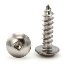 10 Sheet Metal Screws Stainless Steel Square Drive Truss Head Select Size