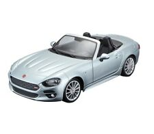 Bburago 1:24 Fiat 124 Spider Convertible Coupe Diecast Model Car Grey 18-21083