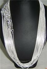 Wholesale Unisex Silver Plated Snake Chain Necklace 18inch Wide 1.2mm 20pcs
