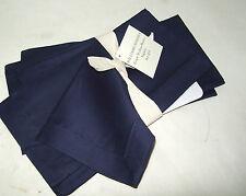 Williams Sonoma Navy Blue Grape Scallop Boutis Cotton Dinner Napkins Set of 4