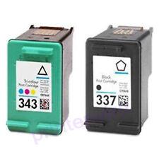 HP 337+ HP 343 Refilled Ink Cart HP Photosmart 2570 2573 2575 2710 7850 8049