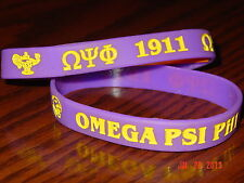OMEGA PSI PHI GREEK FRATERNITY WRISTBANDS