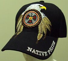 NEW INDIAN NATIVE PRIDE AMERICAN GOLDEN BALD EAGLE FEATHER DREAM CATCHER CAP HAT