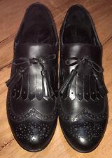 Born Black Loafer with Women Size 9 M Wingtip Kiltie D50503 Slip On Flats
