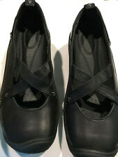 Keen Black Leather Size 6.5 Women's Shoes - Comfort Slip  Outdoors