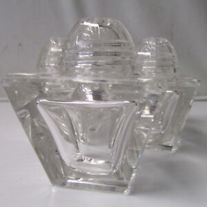 Crystal Salt or Pepper Shaker w/Lid - 1 Shaker Only