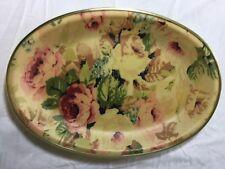 Vintage SANDERSON LINEN Chelsea Rose Tea Tray Fibreglass EUC