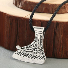 Viking Jewelry Axe Necklace Perun Pendant Vintage Axe leather Necklace Men Gift