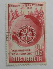 Postage Stamp Australia Pre-Dec 1955 Rotary International Red Symbol 3 1/2d 37