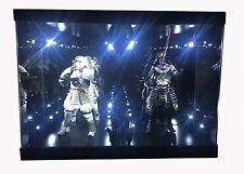 """Acrylic Display Case LED Light Box for 7"""" 18cm Bandai STAR WARS Action Figures"""