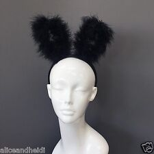 Trendy Black Fur Rabbit bunny Ears Headband For Fancy Dress Costume Party