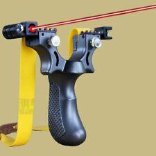 Big Power Rubber Band Slingshot High Precision Flat Leather Hunting Slingshot 1P