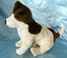 "Folkmanis plush stuffed Hand Puppet Jack Russell Dog 14"""