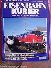 RAILWAY MAGAZINE EISENBAHN KURIER DECEMBER 1999  GERMAN RAILROAD MAG