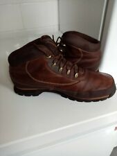 Timberland Men's Brown Leather Lace Up Ankle Boots Size 10.5M. Gd Condition