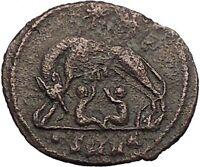 CONSTANTINE I Romulus Remus Wolf Rome Commemorative Ancient Roman Coin i57478