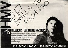 "NEWSPAPER CLIPPING/ADVERT 11/6/94PGN40 7X11"" BRUCE DICKINSON : BALLS TO PICASSO"