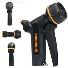 Garden Hose Metal Nozzle Heavy Duty with Front Trigger Flow Control 8 Patterns