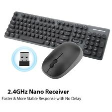 104 Keys Wireless 2.4Ghz Mechanical Feel Keyboard and Mouse Set For Laptop PC GS