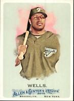 2010 Topps Allen and Ginter Baseball #327 Vernon Wells SP Toronto Blue Jays