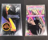 Lot Of 2 SANTANA Cassettes Between Good & Evil & Spirits Dancing In The Flesh