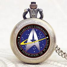 Star Trek Theme  Pocket Watch With Necklace Chain