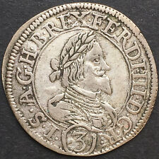 RDR, GROSCHEN 1638, GRAZ, STEIERMARK, FERDINAND III , SILBER