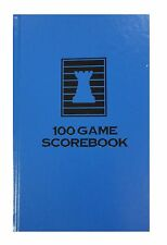 HARDCOVER CHESS SCORE-BOOK - ROYAL BLUE - 100 GAMES - MADE IN USA