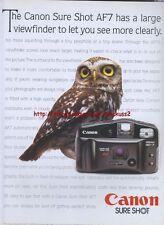 Canon Sure Shot Camera 1995 Magazine Advert #956