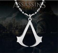 Logo du jeu Assassin Creed pendentif collier hommes ruban cadeau Cosplay chaîne