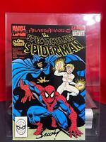 Marvel Annual #9 Atlantis AttackS Spectacular Spider-MaN 1989 SIGNED MARK BAGLEY