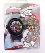 Exclusive Marvel Avengers Assemble Boys 10 Picture Projection Watch NWT